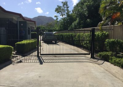 Powder Coated Black Gate