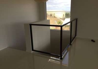 Glass indoor balcony